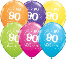 90th Birthday - 11 Inch Balloons 25pcs